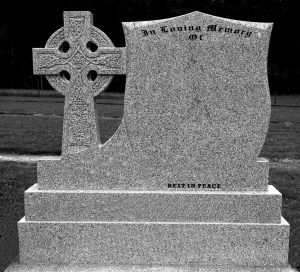 Granite Shield and Cross Headstones Navan Memorials Rennicks Memorials