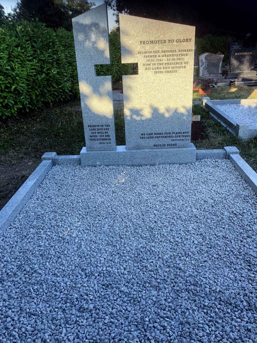 Grey-Granite-Cross-Headstone