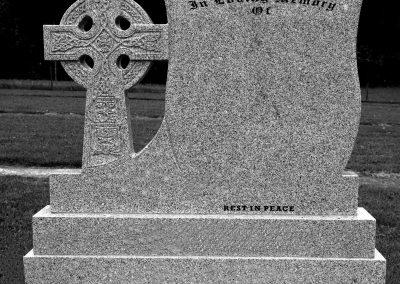 Granite Shield and Cross Headstones Navan Memorials Rennicks Memorials